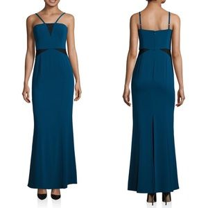 Laundry by Shelli Segal mesh Poseidon gown size 2